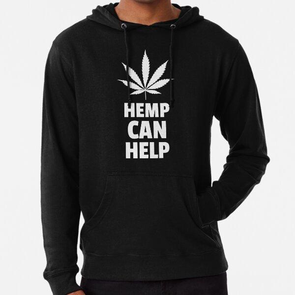 Hemp Can Help Marijuana Leaf  Lightweight Hoodie