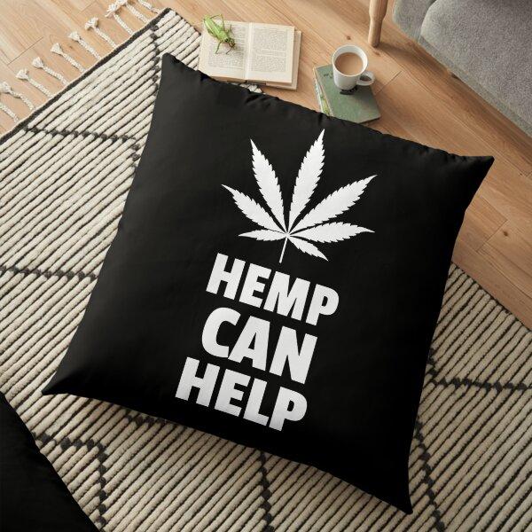 Hemp Can Help Marijuana Leaf  Floor Pillow