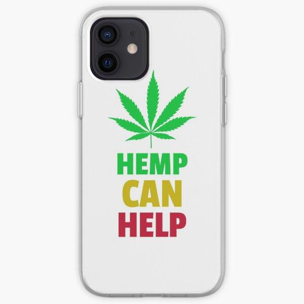 Hemp Can Help Marijuana Leaf  iPhone Soft Case