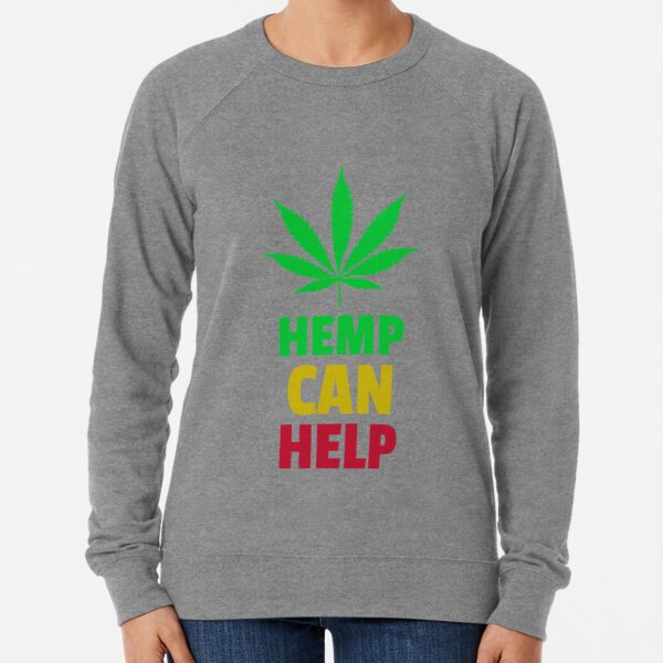 Hemp Can Help Marijuana Leaf  Lightweight Sweatshirt