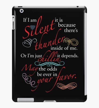 If I Am Silent iPad Case/Skin