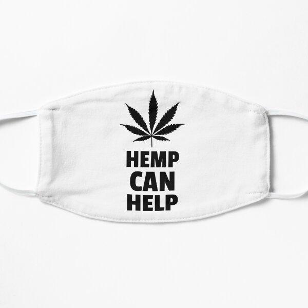 Hemp Can Help Marijuana Leaf  Flat Mask
