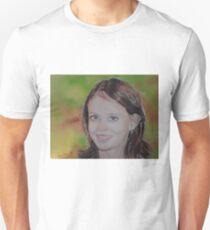 Léa fillette, portrait à l'aquarelle  Unisex T-Shirt