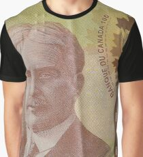 One Hundred Canadian Dollar Bill Graphic T-Shirt