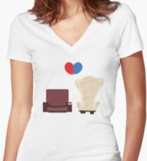 u p Women's Fitted V-Neck T-Shirt