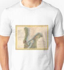 Vintage Martha's Vineyard Holmes Hole Map (1847) Unisex T-Shirt