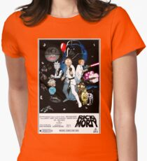 Rick and Morty Wars Womens Fitted T-Shirt