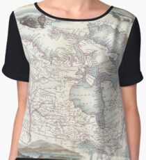 Vintage Map of Canada (1849) Chiffon Top