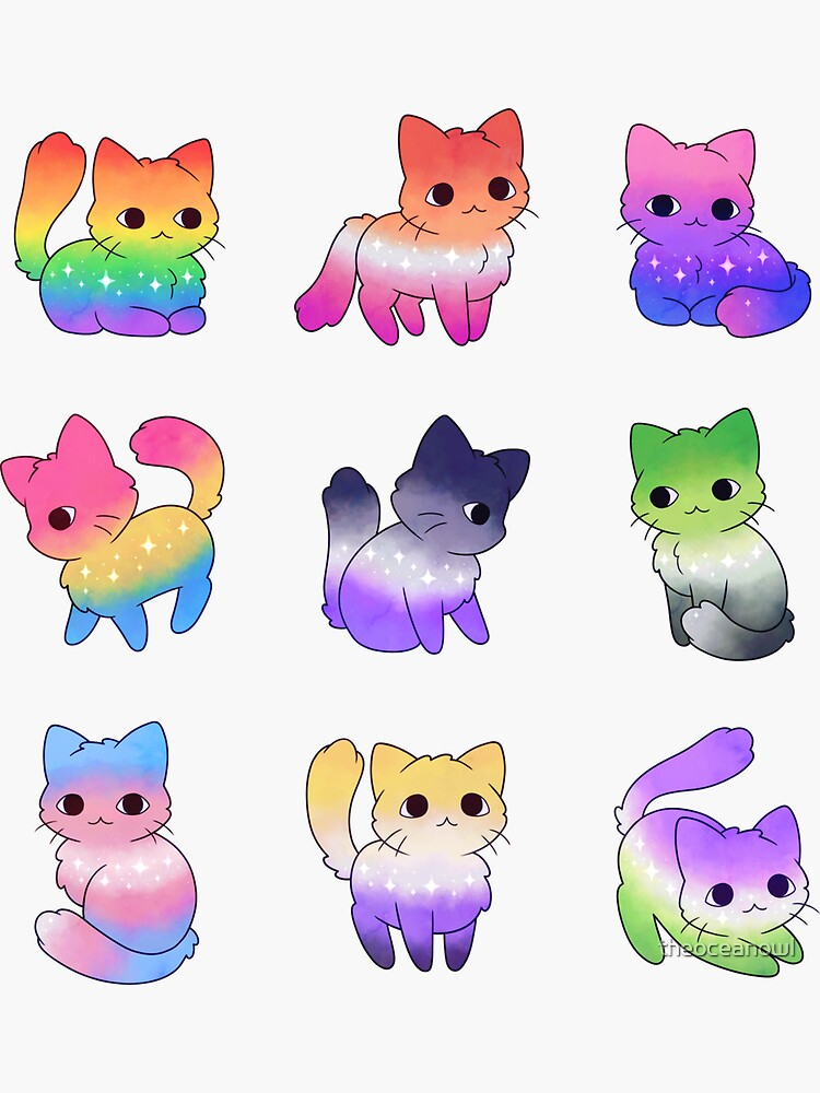 Pride Cats by theoceanowl