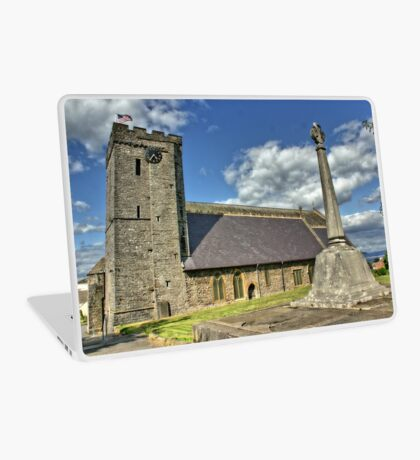 Old Norman Church in Wales (UK) showing USA Flag Laptop Skin