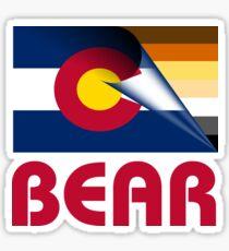 Colorado Bear Pride Flag Sticker