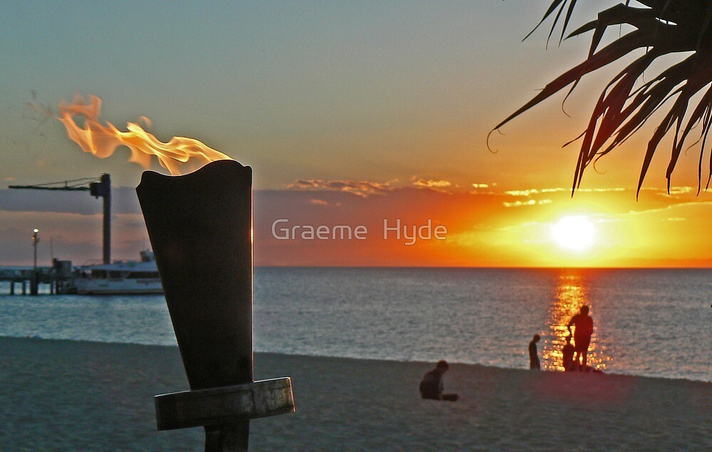 Lit Up at Sunset by Graeme  Hyde