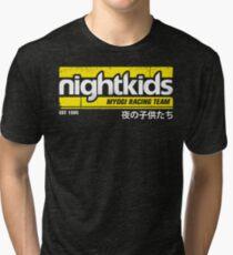 Initial D - NightKids Tee (White) Tri-blend T-Shirt