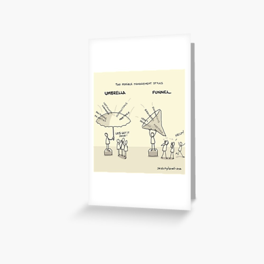 Umbrellas and funnels Greeting Card