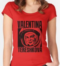 Valentina Tereshkova-3 Women's Fitted Scoop T-Shirt