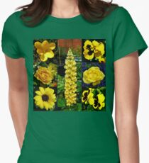 Sunkissed Golden Flowers Collage T-Shirt