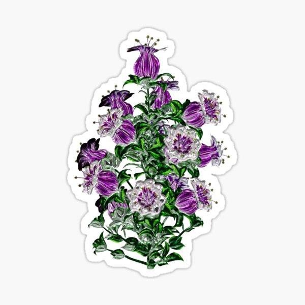 Purple elegant flower bouquet  Sticker
