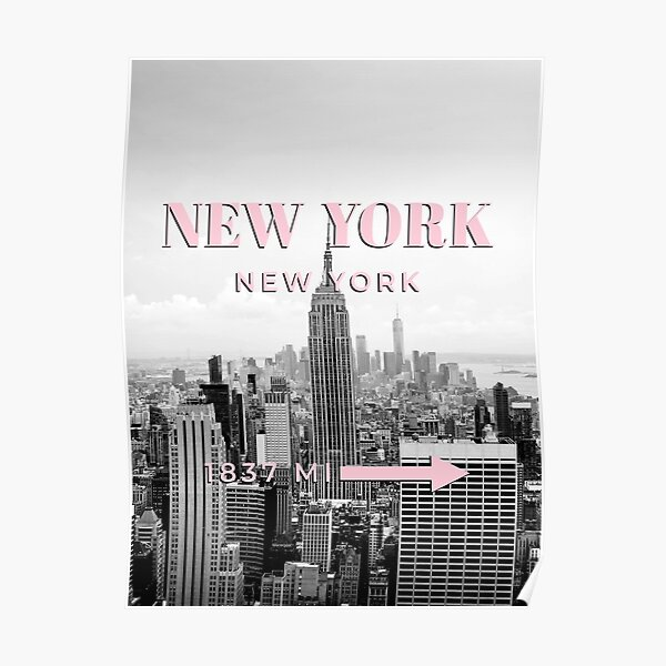 New York, Empire State Building, New York City Poster, Print, Wall Art, Modern Art, Black And White, Travel Photography Poster