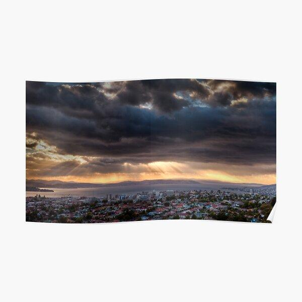 Sunrise from Mount Staurt Poster