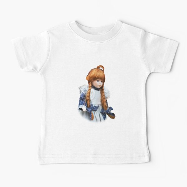 Red haired porcelain doll Baby T-Shirt