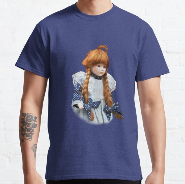 Red haired porcelain doll Classic T-Shirt
