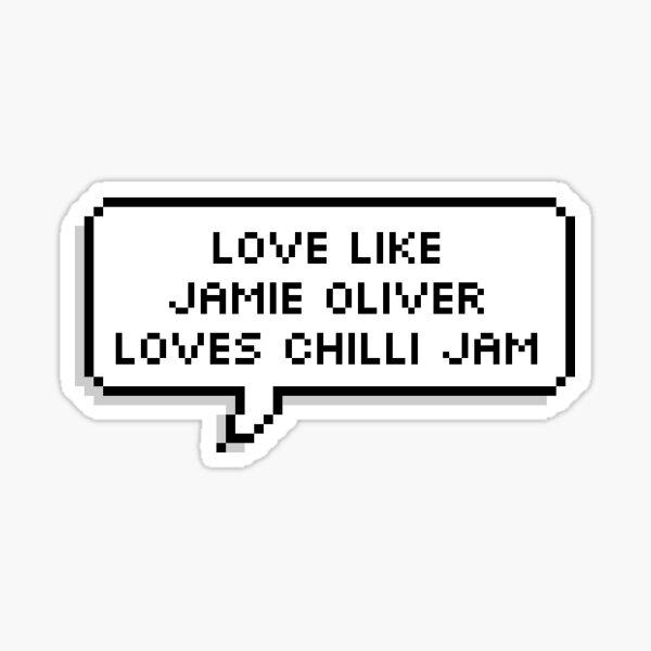 """UNCLE ROGER """"Love Like Jamie Oliver""""  Sticker"""