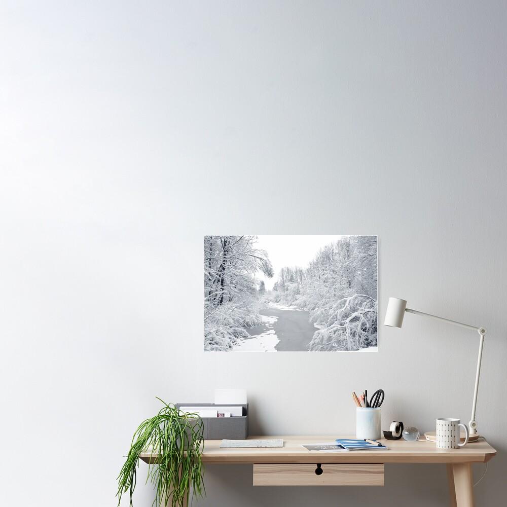 Magic white world Poster