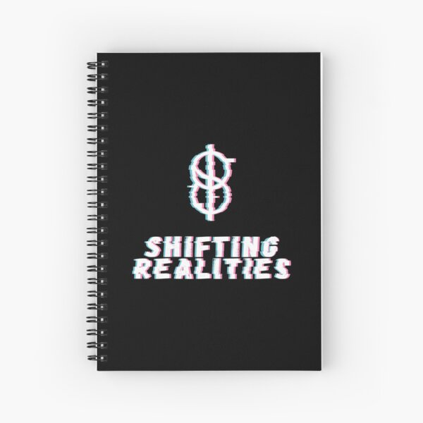Distorted Realities - white version Spiral Notebook