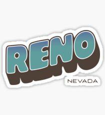 Reno - Retro Postcard Style Sticker