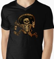 Posada Day der Toten Outlaw T-Shirt mit V-Ausschnitt