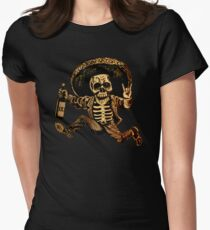 Posada Day of the Dead Outlaw Women's Fitted T-Shirt