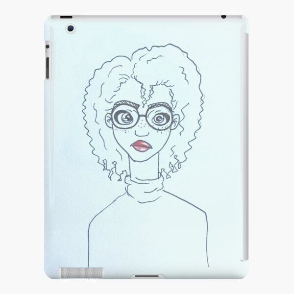 Girl With Glasses. iPad Snap Case