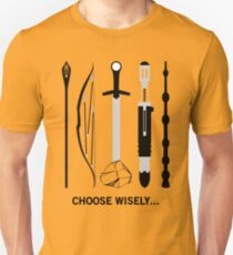 Choose Wisely! (Black Text) T-Shirt