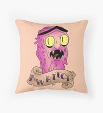 Scary Terry Throw Pillow