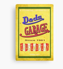 DADS GARAGE since 1961 Canvas Print