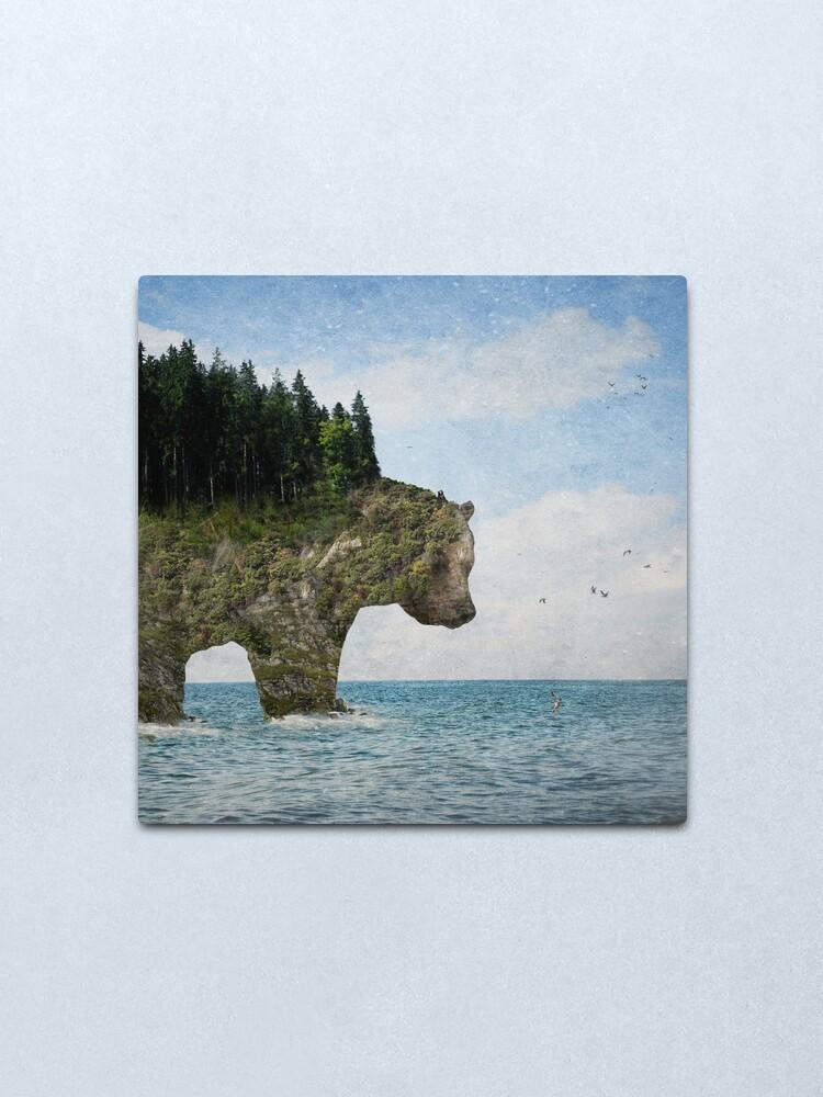 Alternate view of Ursidora: The Invisible Bear Island Metal Print