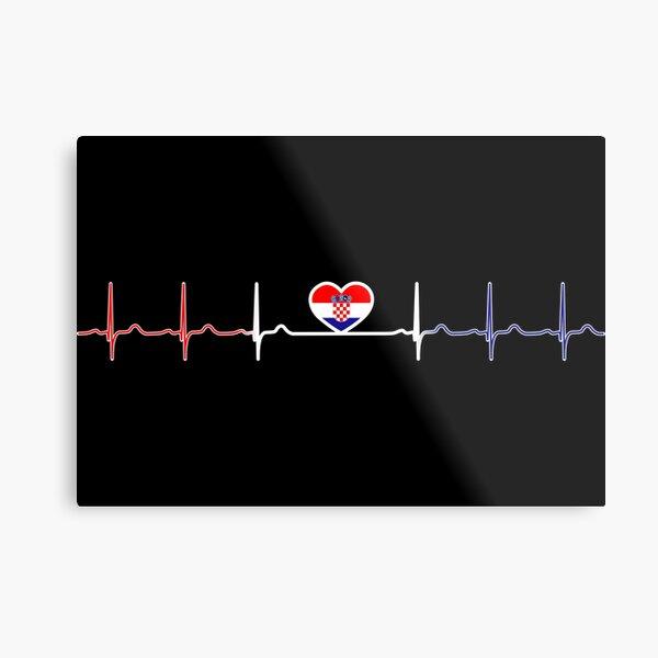 Heartbeat Croatia Metal Print