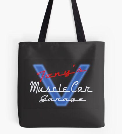 Tony's Muscle Car Garage Tote Bag