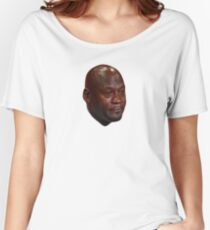 Michael Jordan crying Women's Relaxed Fit T-Shirt
