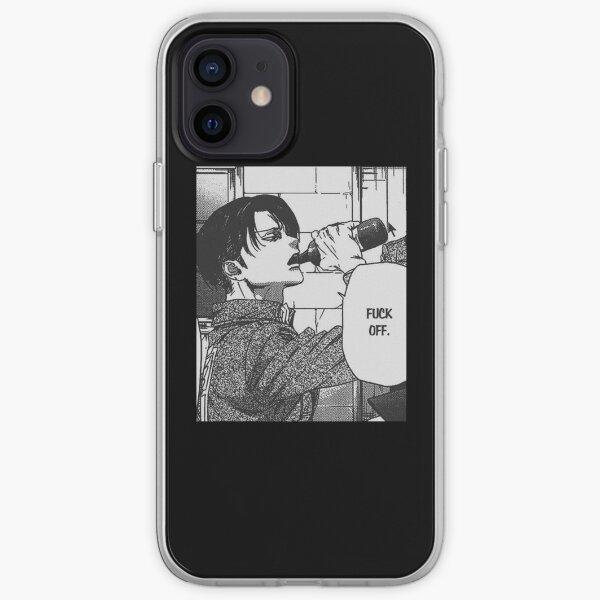 "Levi Ackerman ""Fuck Off"" Sticker iPhone Soft Case"