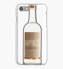 Liquid Happiness in a Bottle Vodka Bottle - Gradient iPhone Case/Skin