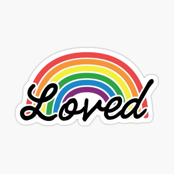 Pride Family Rainbow Loved Sticker