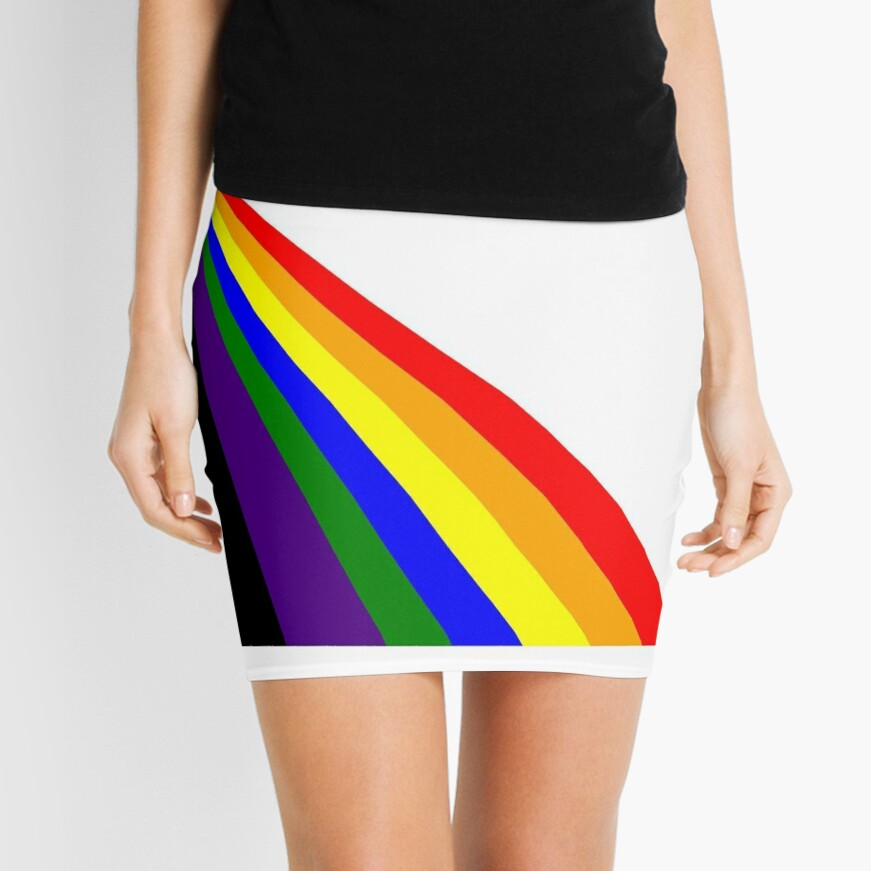 Linear Rainbow Mini Skirt