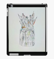 Watercolor Paintbrushes in a jar iPad Case/Skin