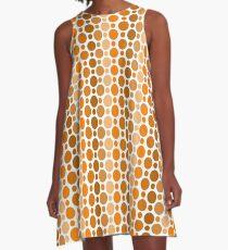 Earthy Retro Speckles A-Line Dress