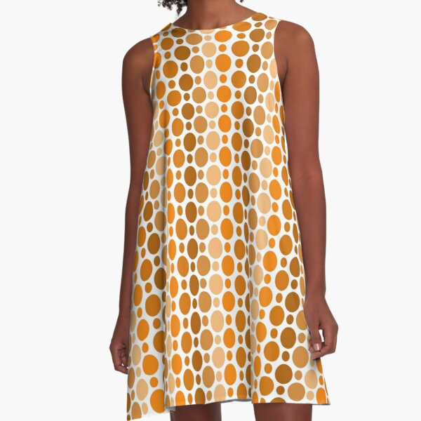 Earthy Retro Speckles A-Line Dress