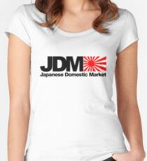 Japanese Domestic Market JDM (2) Women's Fitted Scoop T-Shirt