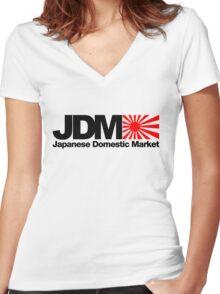 Japanese Domestic Market JDM (2) Women's Fitted V-Neck T-Shirt