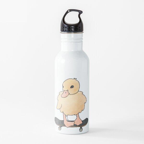 Duckling on a skateboard Water Bottle