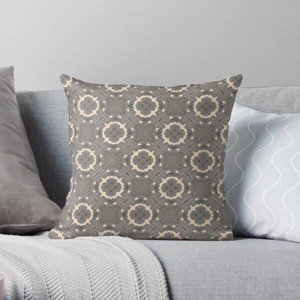 Abstract Art: Artistic Shades of Gray Circles Throw Pillow